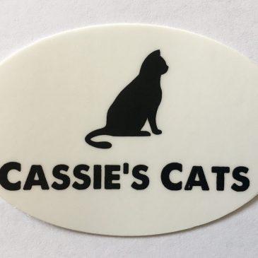 Cassie's Cats Logo Sticker