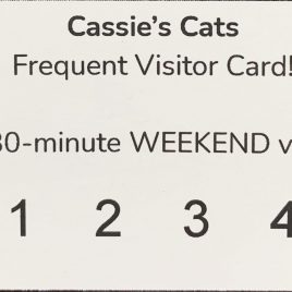 Frequent Visitor Card – Weekends
